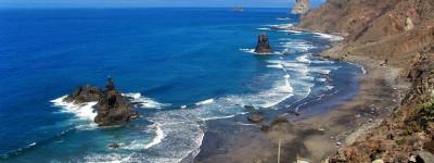 Дикий пляж Бенихо на острове Тенерифе