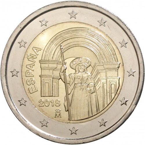 Аверс монет в 1, 2 и 5 евро Испания