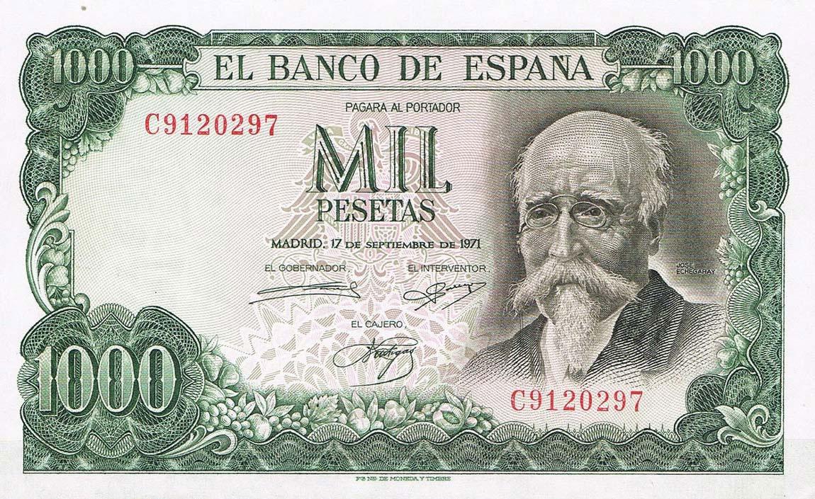 Банкнота в 1000 песет