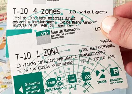 Bilet na 10 poezdok v Ispanii