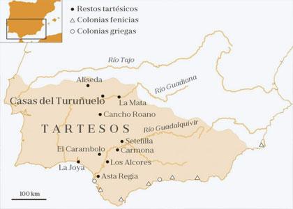 Город Тартесс на карте