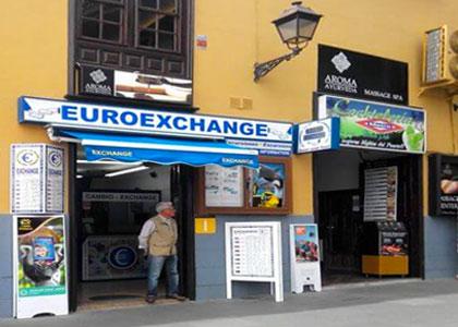 Обменный пункт в Испании
