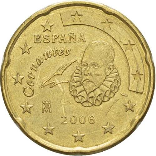 Аверс монеты 20 центов испания