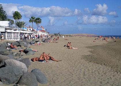 На пляже Maspalomas