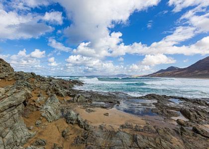 На пляже Playa de Cofete