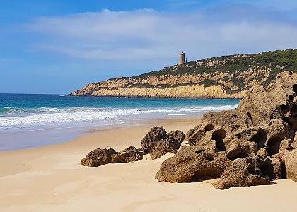 На пляже Playa del Cañuelo