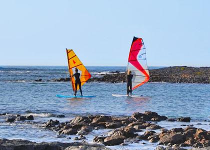 Серфингисты на Playa del Rio