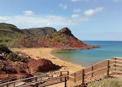 Спуск к пляжу Cala del Pilar