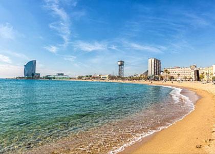 Вид на пляж La Mar Bella