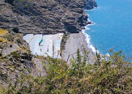 Вид на пляж Playa El Ruso