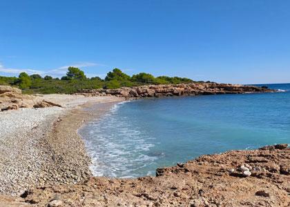 Вид на пляже Cala Argilaga