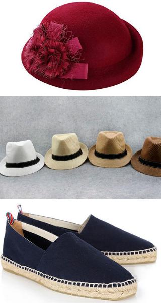 Коктельные и мужские шляпы.эспадриллы