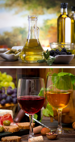 Вино и оливковое масло