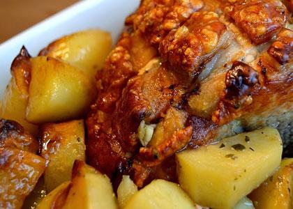 okorok s kartofelem