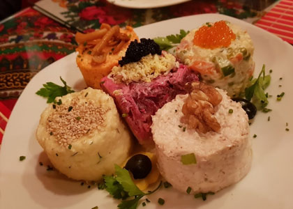 Блюдо в ресторане Las Noches de Moscu