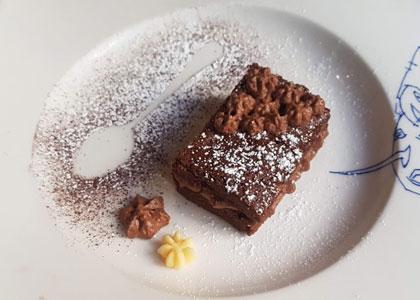 Десерт в ресторане Arce