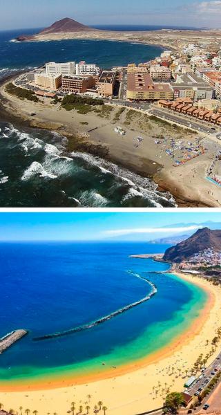 Пляж Эль-Медано и Лас-Тереситас