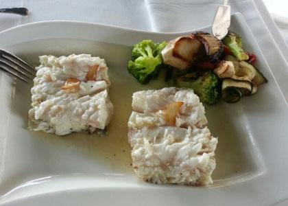 блюдо из ресторана Elkano