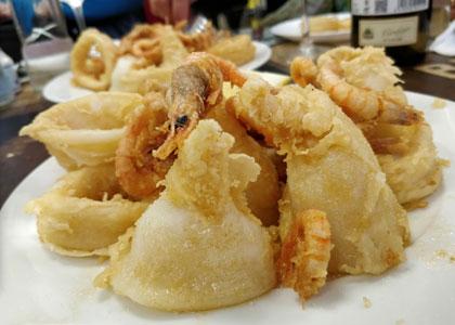 блюдо ресторана La Pascuala