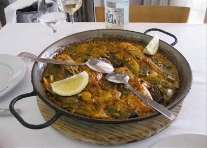 блюдо ресторана La Pepica