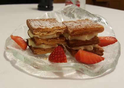 десерт из ресторана Rausell