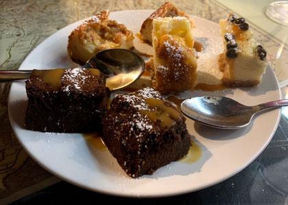 десерт в ресторане L'alquimista