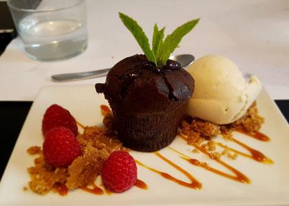 десерт в ресторане Oslo