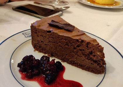 десерт в ресторане Sobrino de Botín