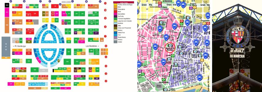 Карта рынка и парковок