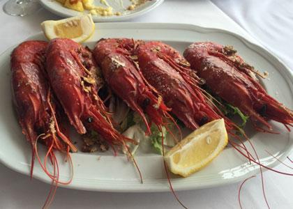креветки из ресторана La Pepica