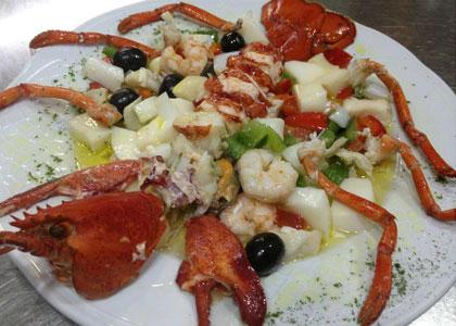 лангуст в ресторане Civera