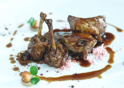 мясное блюдо ресторана Zalacain