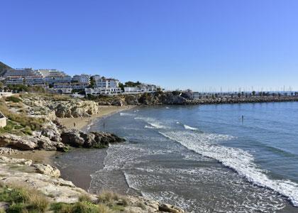 нудистский пляж Els Balmins