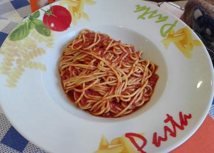 паста в ресторане Da Carlo