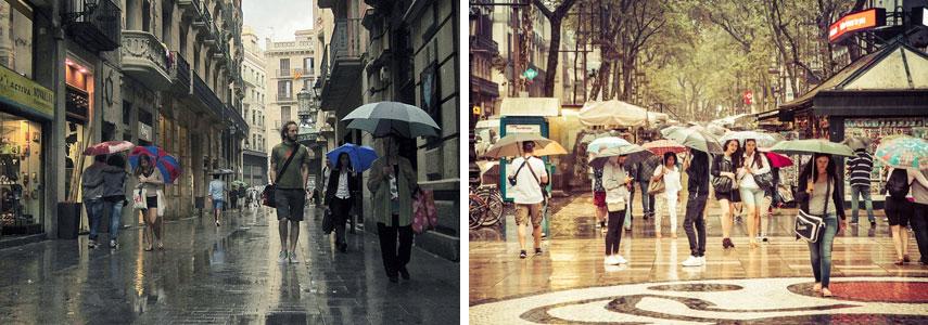 период дождей в Барселоне