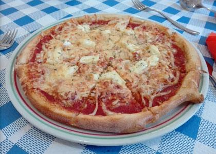пицца в ресторане Da Carlo