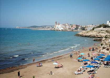 пляж для нудистов Els Balmins