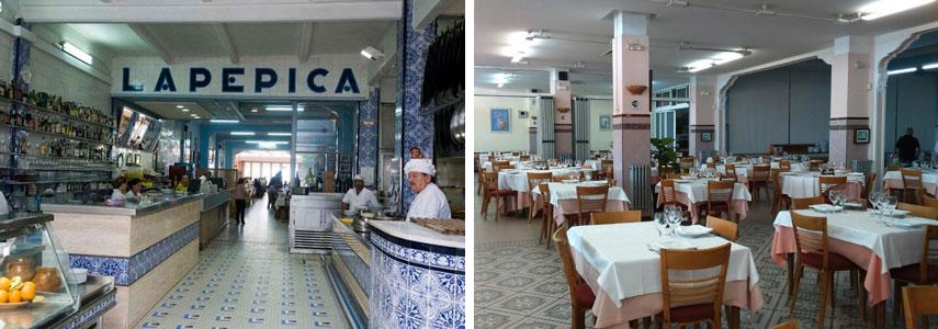 ресторан La Pepica с видом на море