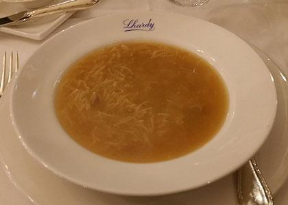 суп в ресторане Lhardy