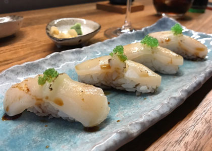 суши в суши-баре Nozomi