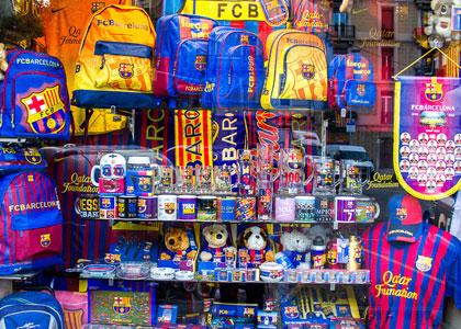 сувенирная продукция футбольных клубов