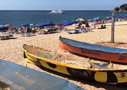 Аренда каяков на пляже Льорет-де-Мар