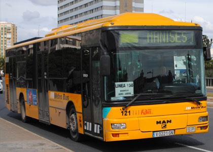 Автобус в Валенсии