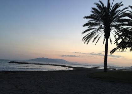 Пляж Эль-Пало ночь