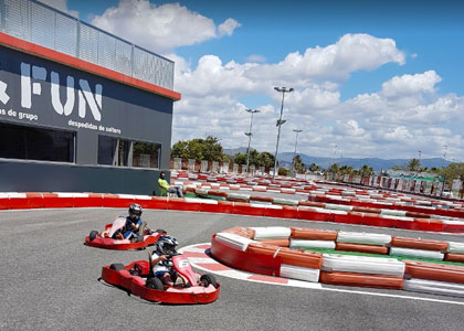 Гонщики в Kart&Fun