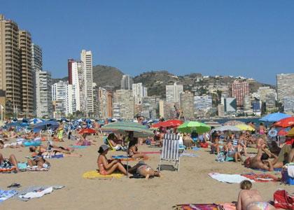 Городской пляж Леванте в Барселоне