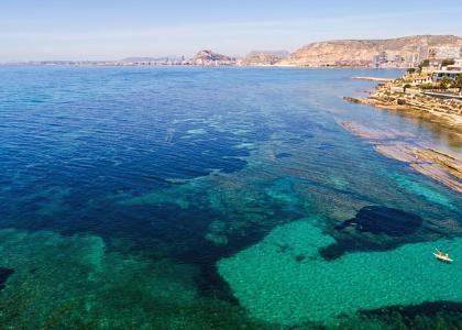 Красивое море Бухты мыса Кабо-де-Уэртас