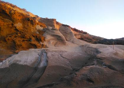 Красивые горы на пляже montana amarilla