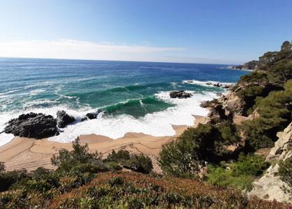 Красивый вид на пляж De Sa Boadella