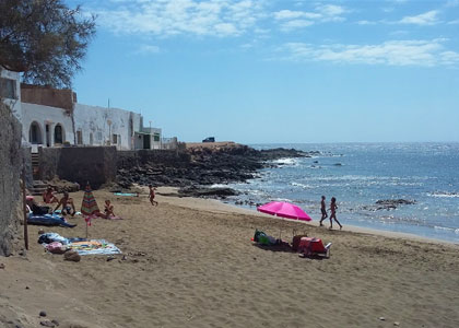 На пляже Эль-Каброн